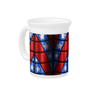 Superheroes - Blue, Red, White Stars Beverage Pitchers