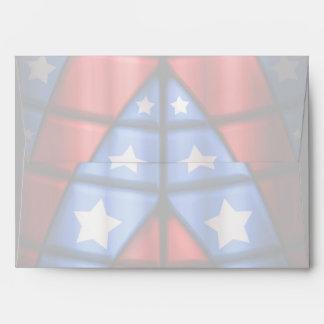 Superheroes - Blue, Red, White Stars Envelope