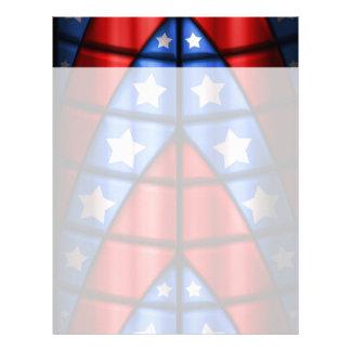 Superheroes - Blue, Red, White Stars Letterhead