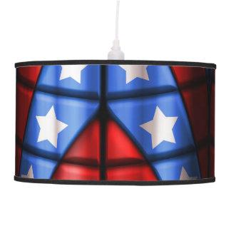 Superheroes - Blue, Red, White Stars Pendant Lamp