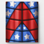 Superheroes - Blue, Red, White Stars Plaques