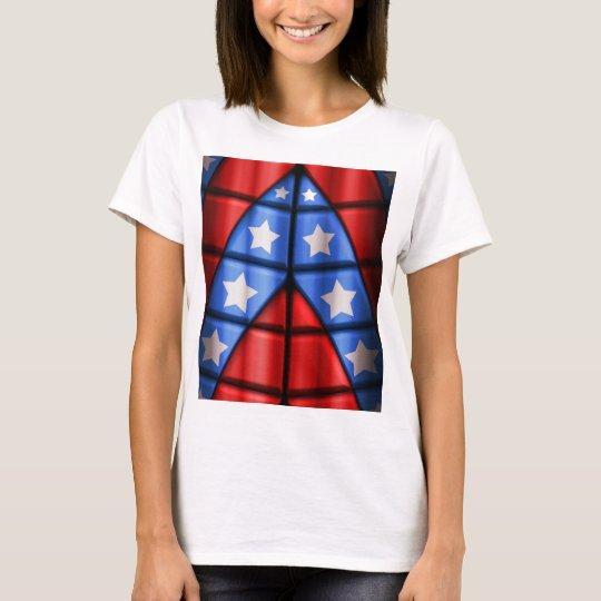 Superheroes - Blue, Red, White Stars T-Shirt