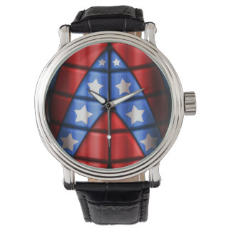Superheroes - Blue, Red, White Stars Watches