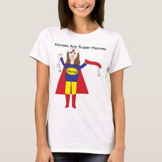 Superhéroes de las enfermeras (Brunette) Playera