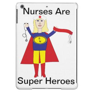 Superhéroes de las enfermeras (rubios) funda para iPad air