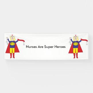 Superhéroes de las enfermeras (rubios) lona