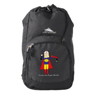Superhéroes de las enfermeras (rubios) mochila