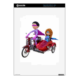 Superheroes in a Moped with a Sidecar iPad 2 Skin
