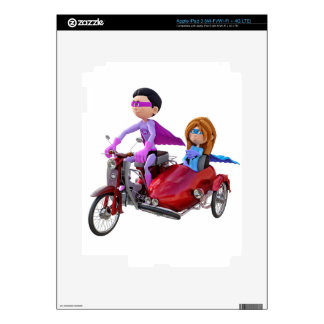 Superheroes in a Moped with a Sidecar iPad 3 Skin