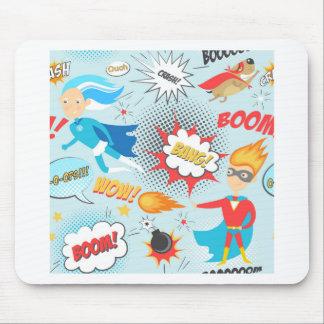 Superheroes Mouse Pad
