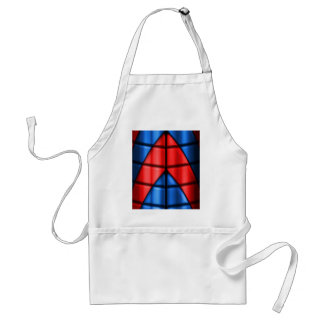 Superheroes - Red and Blue Adult Apron