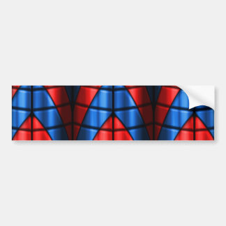 Superheroes - Red and Blue Bumper Sticker