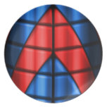 Superheroes - Red and Blue Dinner Plates