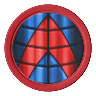 Superheroes - Red and Blue Poker Chip Set