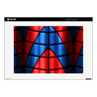 """Superheroes - Red and Blue 15"""" Laptop Decal"""