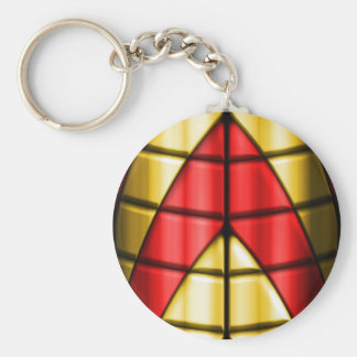 Superheroes - Red and Gold Keychain