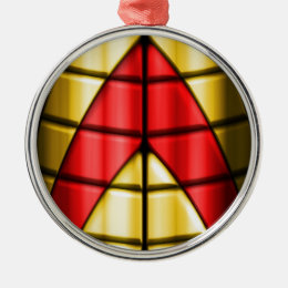 Superheroes - Red and Gold Metal Ornament