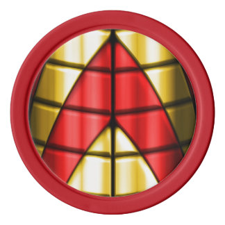 Superheroes - Red and Gold Poker Chip Set