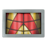Superheroes - Red and Gold Rectangular Belt Buckle