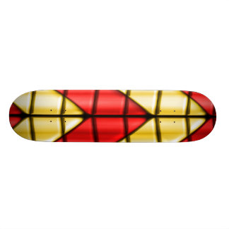 Superheroes - Red and Gold Skateboard Deck
