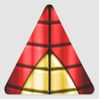 Superheroes - Red and Gold Triangle Sticker