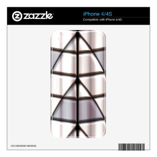 Superheroes - Silver iPhone 4S Decals