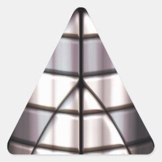 Superheroes - Silver Triangle Sticker
