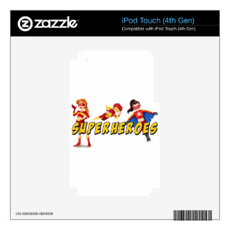 Superheroes iPod Touch 4G Skins