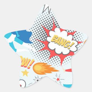 Superheroes Star Sticker