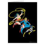 Superheroines Leap Card