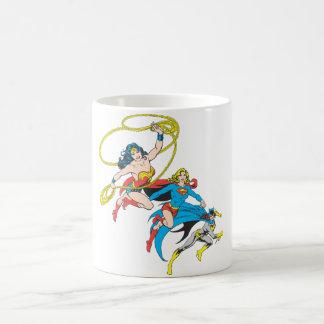 Superheroines Leap Coffee Mug