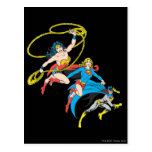 Superheroines Leap Postcard