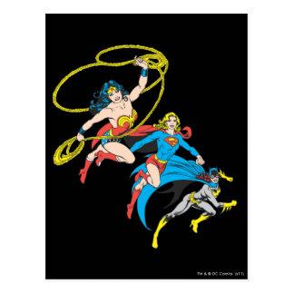Superheroines Leap Post Card