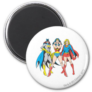 Superheroines Pose 2 Inch Round Magnet