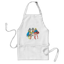 Superheroines Pose Adult Apron