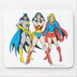 Superheroines Pose Mousepad