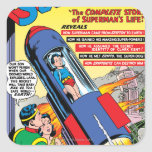 Superhombre #146 pegatina cuadrada