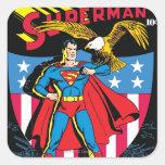 Superhombre #14 calcomania cuadradas personalizadas