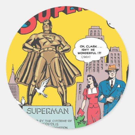 Superhombre #16 etiquetas redondas