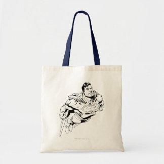Superhombre 1 blanco y negro bolsa tela barata