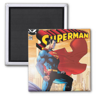 Superhombre #204 4 de junio imán cuadrado