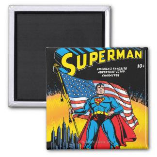 Superhombre #24 imán cuadrado