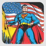 Superhombre #24 pegatina cuadrada