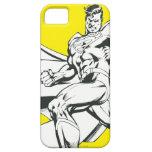 Superhombre 2 blancos y negros iPhone 5 fundas