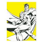 Superhombre 2 blancos y negros postales