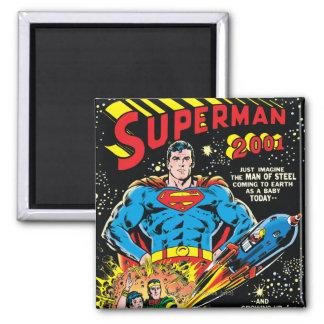 Superhombre #300 imán cuadrado