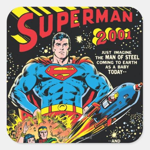 Superhombre #300 pegatina cuadrada