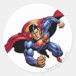 Superhombre 31 pegatina redonda