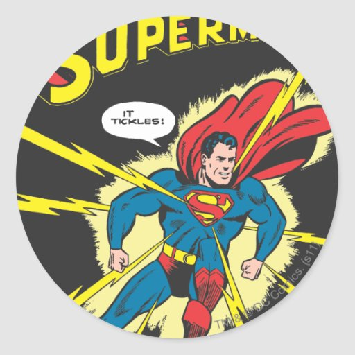 Superhombre #32 pegatina redonda