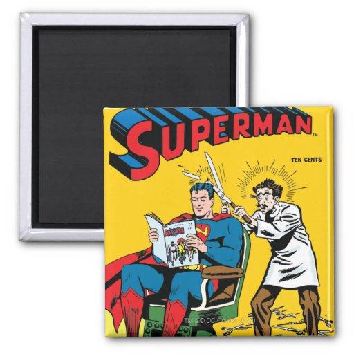 Superhombre #52 imán cuadrado